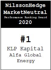 NilssonHedge Performance award: KLP Alfa Global Energy
