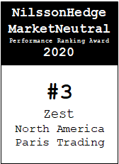 NilssonHedge Performance award: Zest North American Pairs Trading