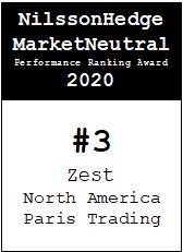 NilssonHedge Performance award: Zest North American Pairs Trading