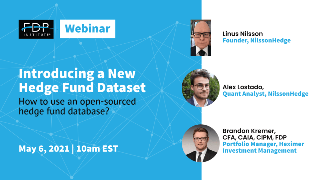 FDP Webinar - Introducing a new hedge fund dataset